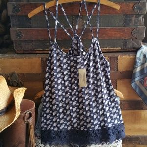 AEO Strappy Cami Tank Top NWT